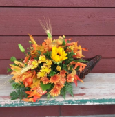 Cornucopia Fall, holiday, tablepiece