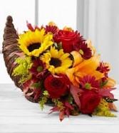 Thanksgiving Cornucopia Centerpiece Premium