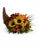 Cornucopia Sunflowers Centerpiece