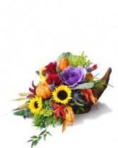 Abundance Cornucopia Fresh Flowers