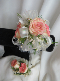 Corsage and Bout 1 Fresh Wrist Corsage and Bout