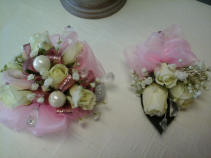 Corsage and Bout. set of corsage and bout.