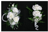 Corsage and Boutineer Set Can Be Done In Pink or Red