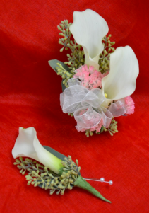 Corsage and Boutonniere- 1B & 1C