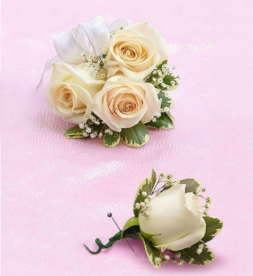 Corsage and Boutonniere Package Prom