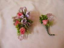 SWEETHEART AND MIX CORSAGE & BOUTONNIERE PROM FLOWERS