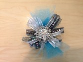 Blue broach Corsage  Corsage