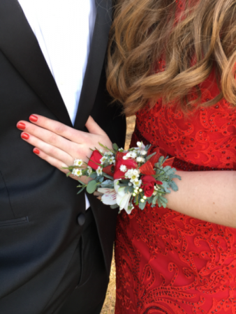 Radiant Red Corsage
