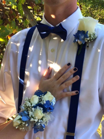 A Touch of Blue Corsage