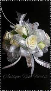 corsage silver bling