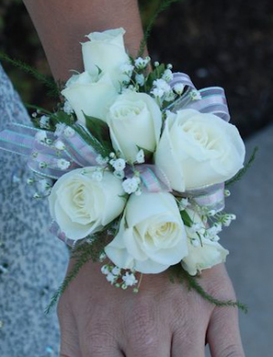 Corsage Wrist Corsage in Hardwick, VT | THE FLOWER BASKET
