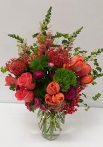 Cosmic Coral Floral Arrangement