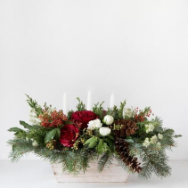 Cottage Christmas Arrangement