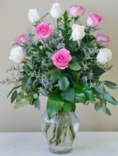 COTTON CANDY  Arrangement of Roses
