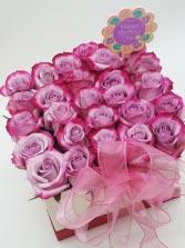 Cotton Candy Box Mother's Day Flower Arrangement