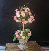 Cotton Candy Topiary Forever Flowers  Silk flower topiary arrangement