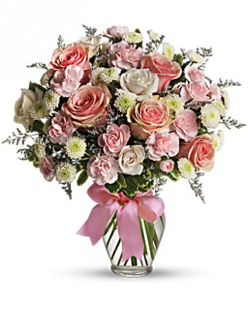 Cotton Candy Vased Arrangement
