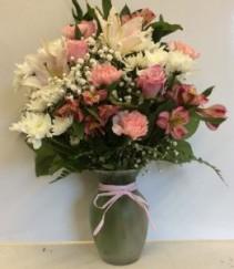 Cotton Candy Vase arrangement
