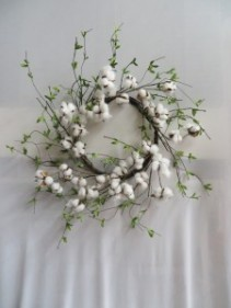Cotton Wreath 12 Silk Wreath