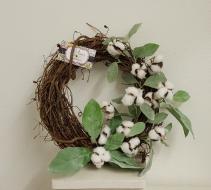One of a Kind Cotton wreath Silk wreath