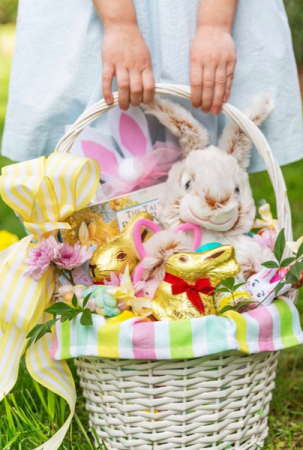 Custom Cottontail Basket  Gift Basket