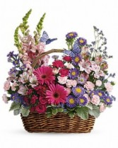 Country Backet Blooms Bouquet