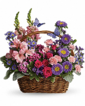 Country Basket Blooms 16.5