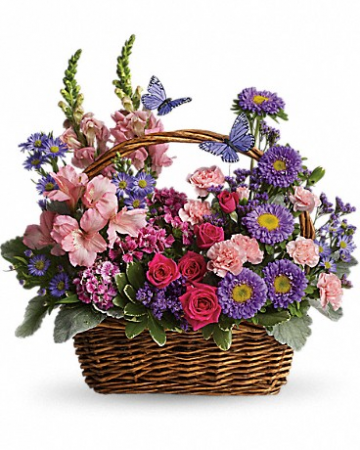 "Country Basket Blooms 16.5""(w) x 16.5""(h) ONE SIDED"