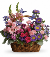 Country Basket Blooms All-Around Floral Arrangement