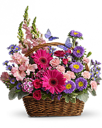 Country Basket Blooms Fresh Arrangement