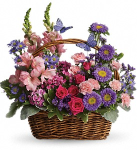 Country Basket Blooms      T48-3 Basket Arrangement