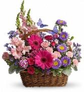 Country Blooms Basket Arrangement