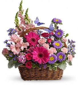 Country Blooms Basket Arrangement