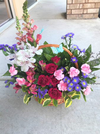 Country Blooms by Flower Story Basket