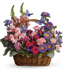Teleflora's Country Basket Blooms- Fresh Arrangement