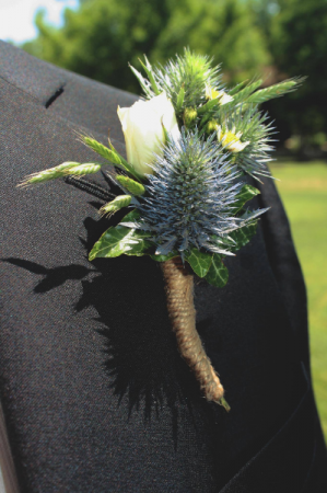 Country Blues Boutonniere