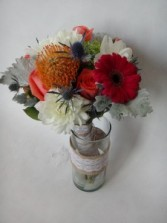 country carnival bridal bouquet