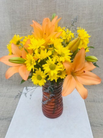 Country Charm Fresh Vase Arrangement