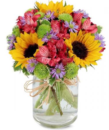 Country Charm  Mixed seasonal flowers