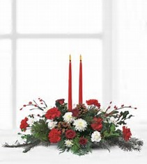 Country Christmas Centerpiece in Osceola Mills, PA | COLONIAL FLOWER & GIFT SHOP