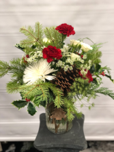 Country Christmas Vased arrangement
