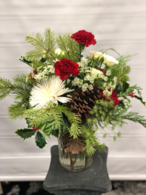 Country Christmas Vased arrangement
