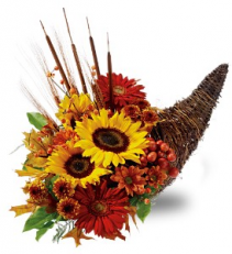 Country Cornucopia                    TF-WEB-65 Fresh Floral Arrangement