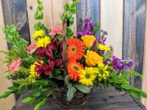 Country Cottage Basket  Fresh Floral Design