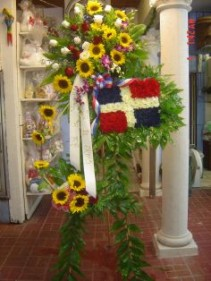 country flag spray funeral
