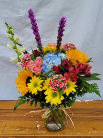 Country Girl Charm Vase Arrangement