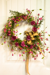 Country Kisses Silk Floral Wreath