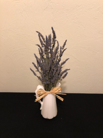 Country Lavender Pitcher Keepsake Arrangement
