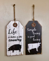 Country Living signs gift item