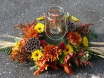 Country Mason Jar Lantern Centerpiece Autumn Splender
